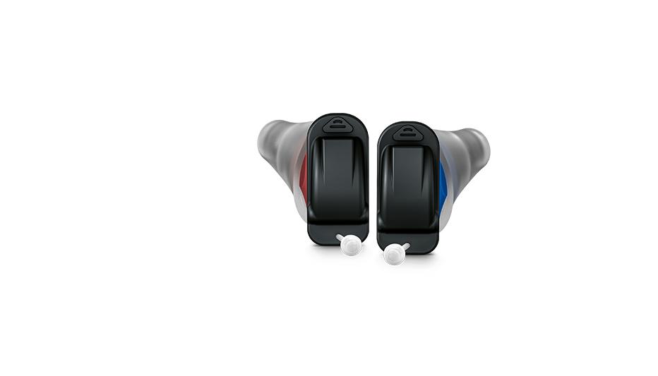 Audio Service: Zwei Im-Ohr-Hörgeräte Audio Service Quix mit austauschbarer Anbindung für den jeweiligen Gehörgang