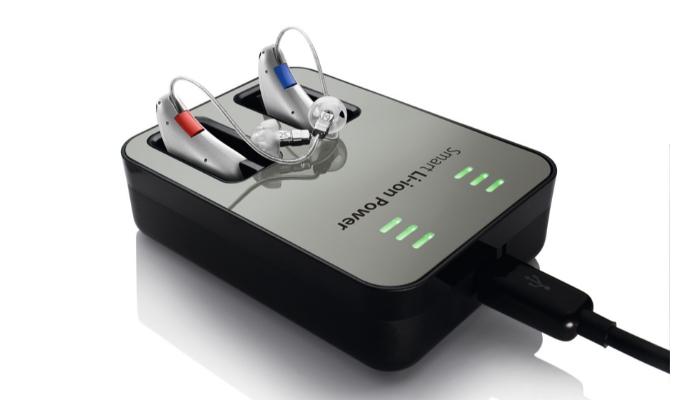 Audio Service: Eine Audioservice Duo Ladestation inklusive Hörgeräte