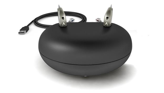 Bernafon: Akku-Ladestation für Bernafon-Viron-Hörgeräte mit USB Kabel