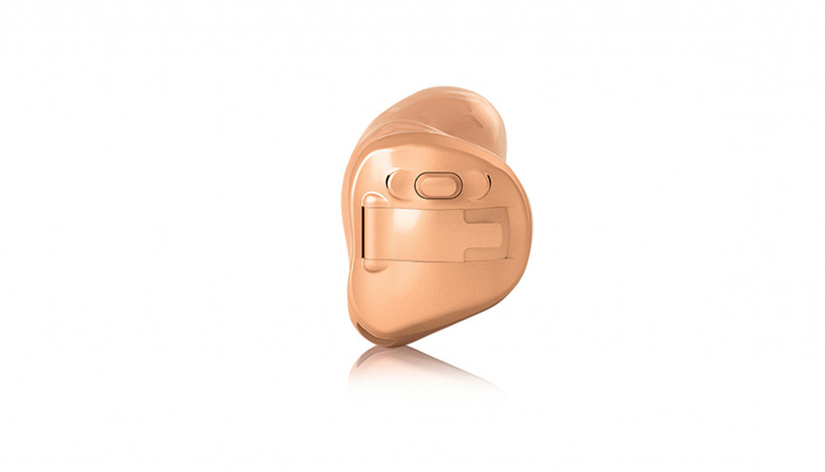 Hansaton: ITC-Im-Ohr-Hörgerät Hansaton flow + mit Taster in beige