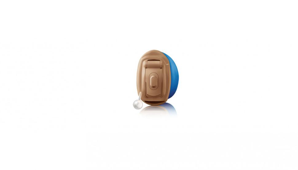 Hansaton: Hansaton Im-Ohr-Hörgerät Jazz Pro IIC mit blauer Schale