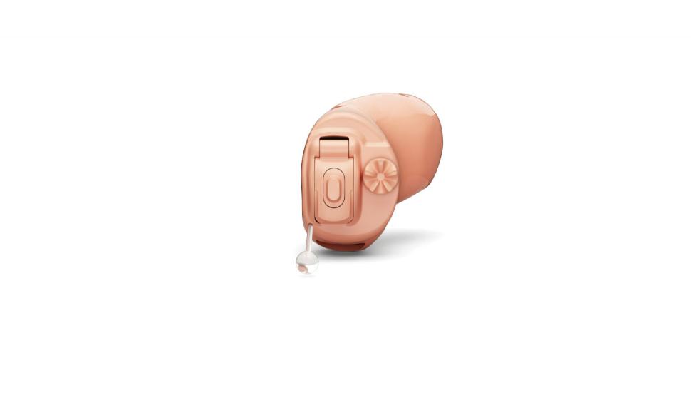 Hansaton: Beigefarbenes Im-Ohr-Hörgerät von Hansaton mit Rädchen und Taster