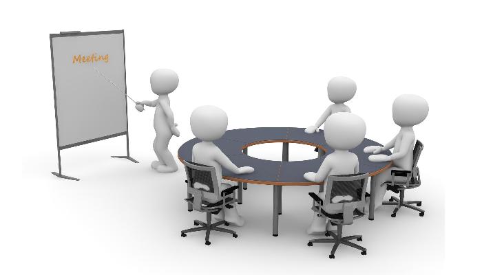 Audio Service: Animierte Darstellung eines Meetings