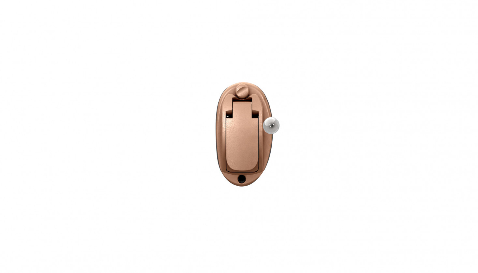 Oticon: Unsichtbares Im-Ohr-Hörgerät Oticon OPN IIC in beige