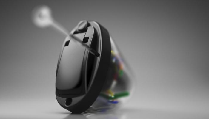 Oticon: Mini Im-Ohr-Gerät mit transparenter Schale
