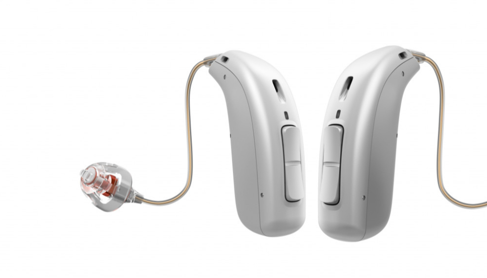 Oticon: Zwei graue Hörgeräte