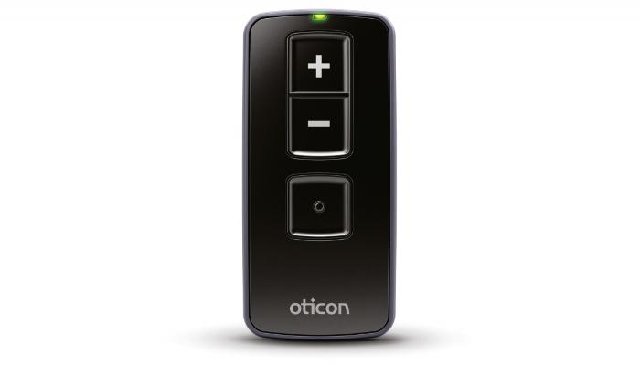 Oticon: Kleine schwarze Fernbedienung von Oticon für Hörgeräte