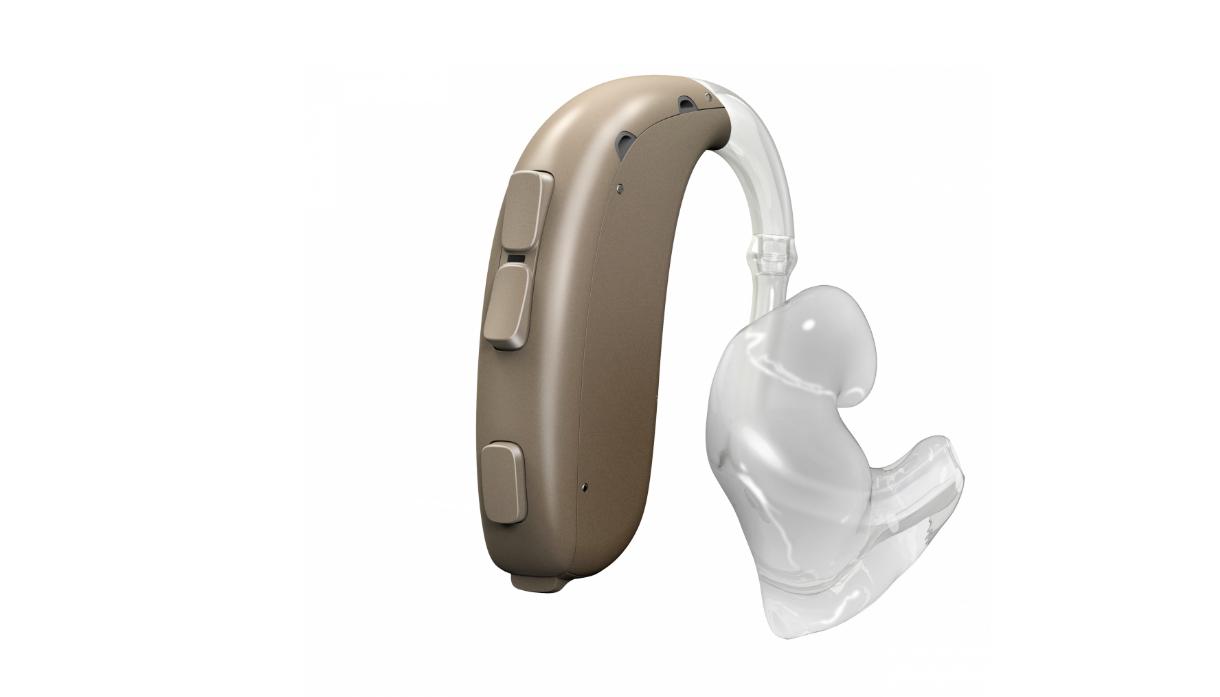 Oticon: ein Powerhörgerät mit Ohrstück