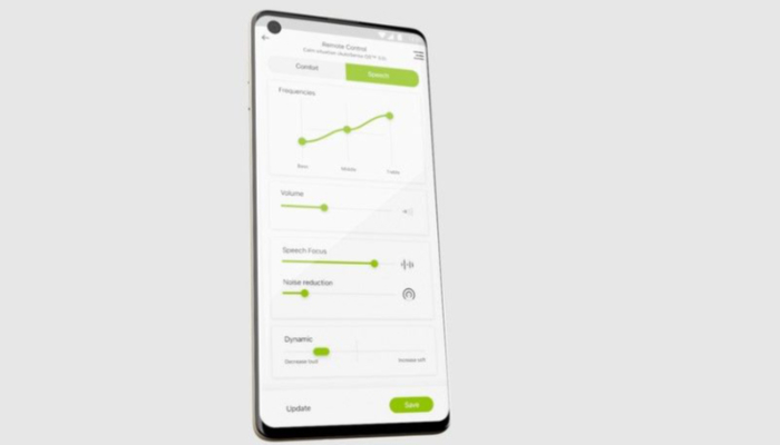 Phonak: Ein Smartphone mit der Phonak App