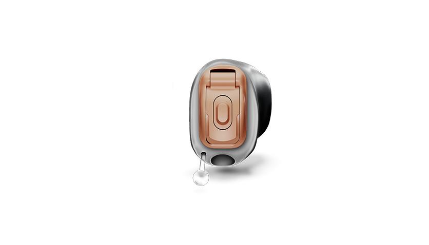 Phonak: Im-Ohr-Hörgerät Phonak Virto Marvel Titanum, sehr klein, mit Titanhülle