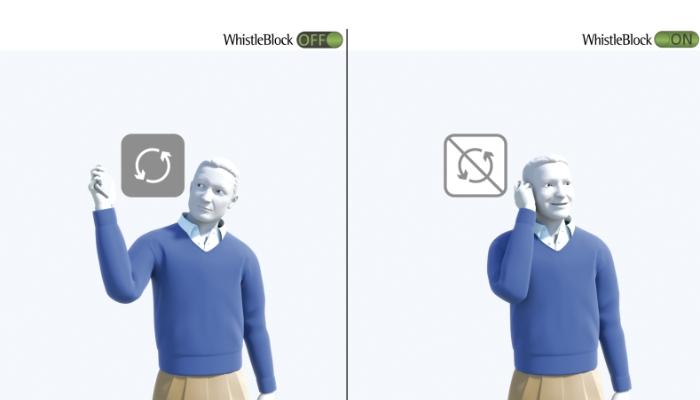 Phonak: Zwei Männer nebeneinander mit Hörgerät