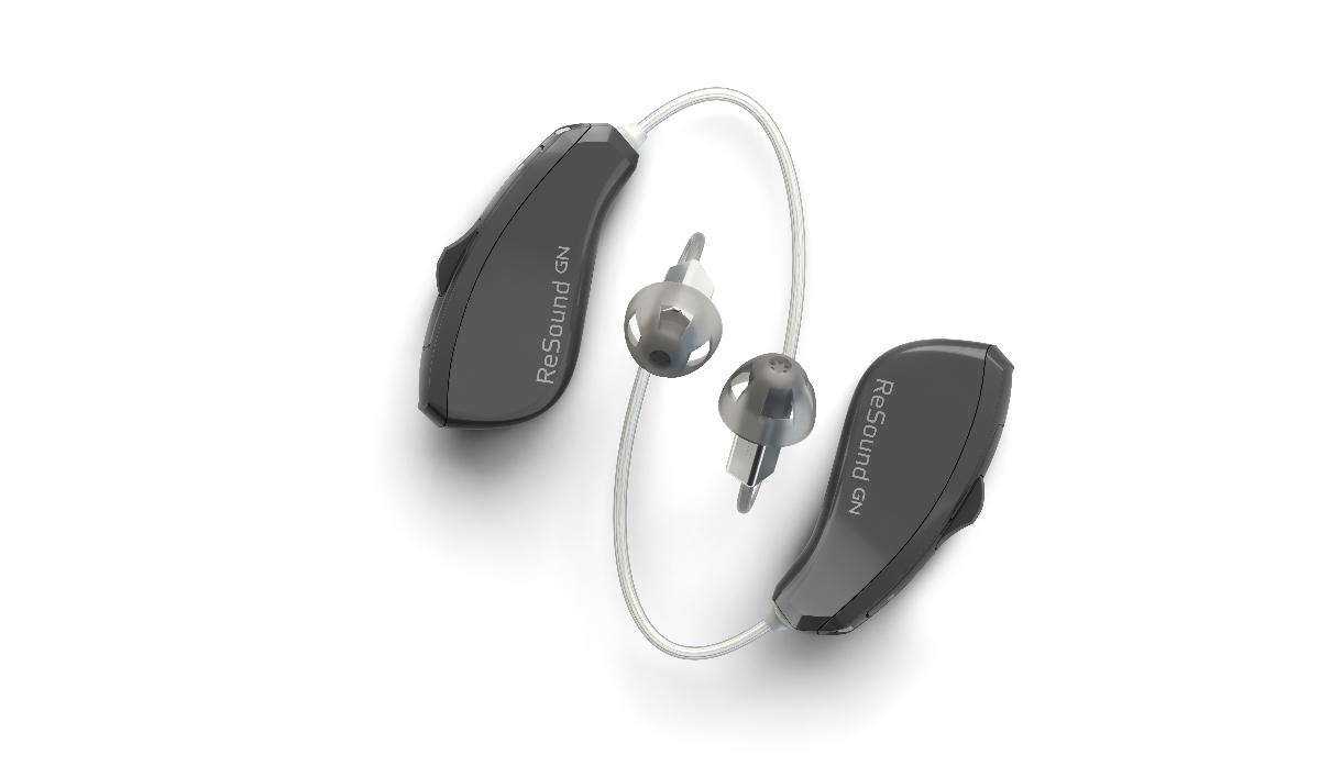 ReSound: Zwei dunkelgraue Hörgeräte