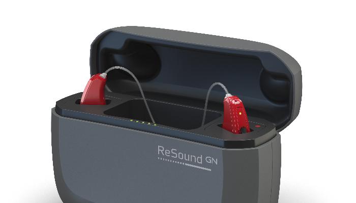 ReSound: Zwei Hörgeräte in der Ladestation