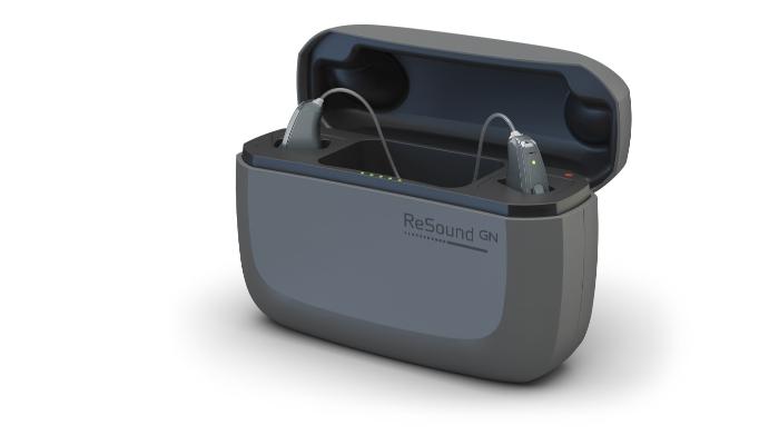 ReSound: Zwei Linx Hörgeräte von ReSound in einem Etui/Ladegerät