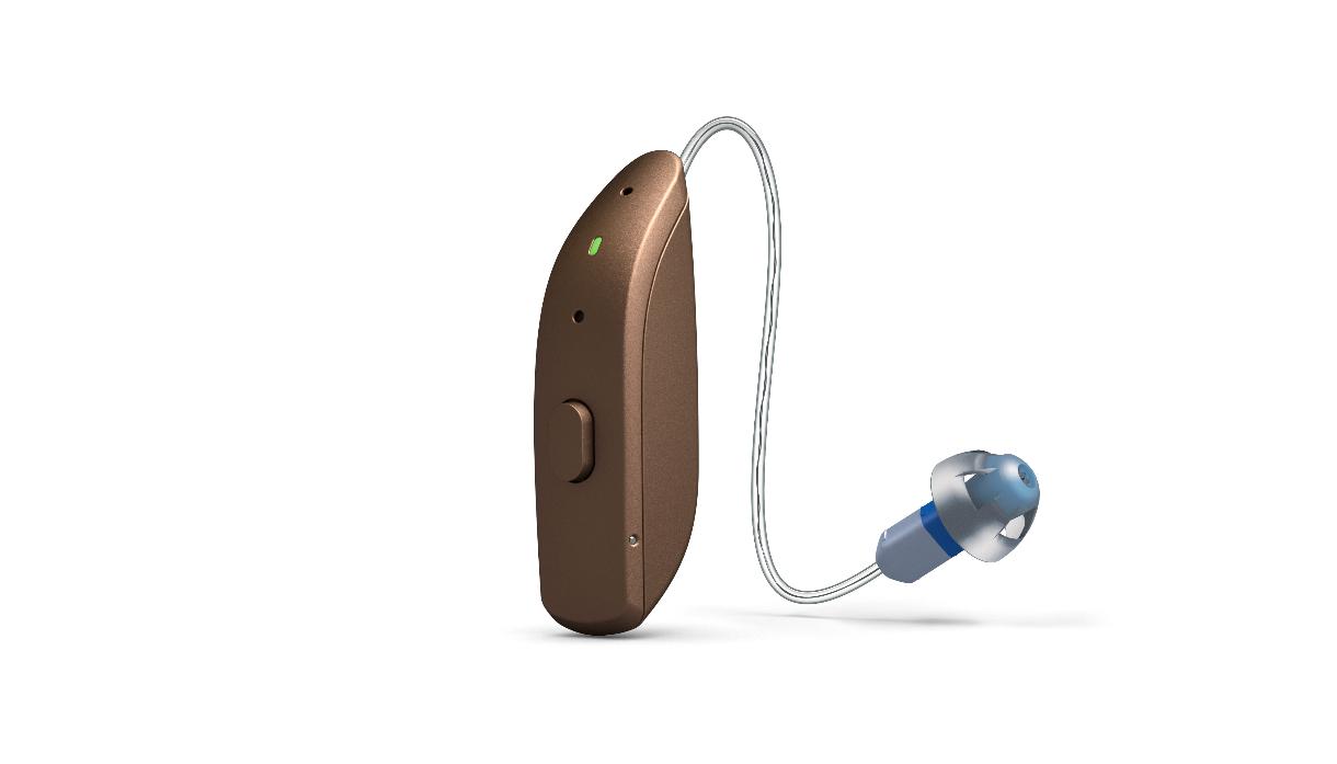 ReSound: Hörgerät mit Exhörer und Akku gold