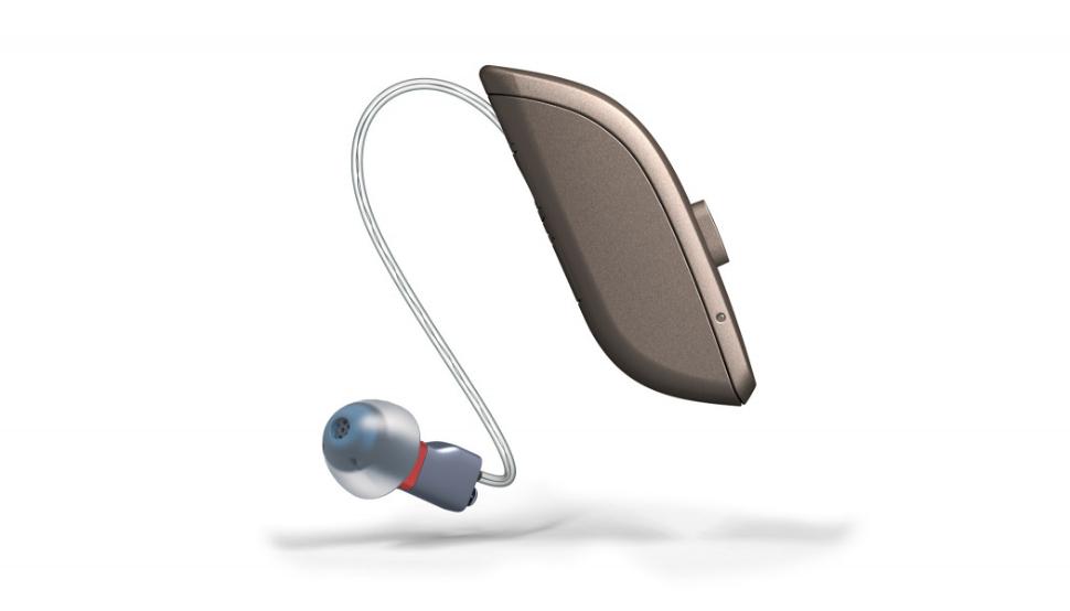 ReSound: ReSound One Hörgerät mit M&RIE-Hörer und Akku in Grau