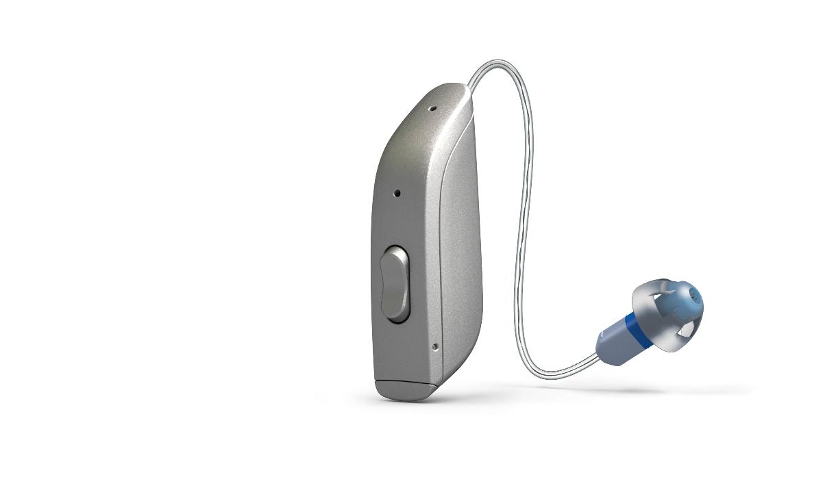 ReSound: Batteriebetriebenes Hörgerät mit Exhörer in Silber