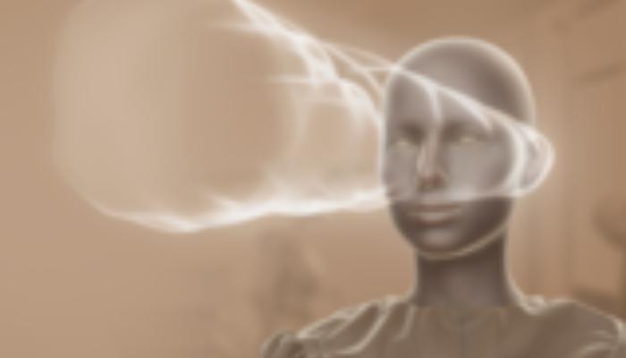 ReSound: Schallwellen ausgehend von zwei Hörgeräten am Kopf symbolisieren Fokus-Funktion