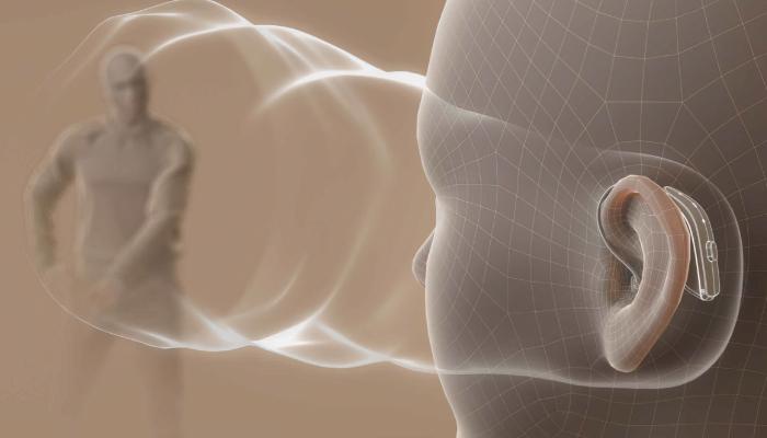 ReSound: Schallwellen an einem Avatar, die direkt auf den Gesprächspartner gegenüber gerichtet sind