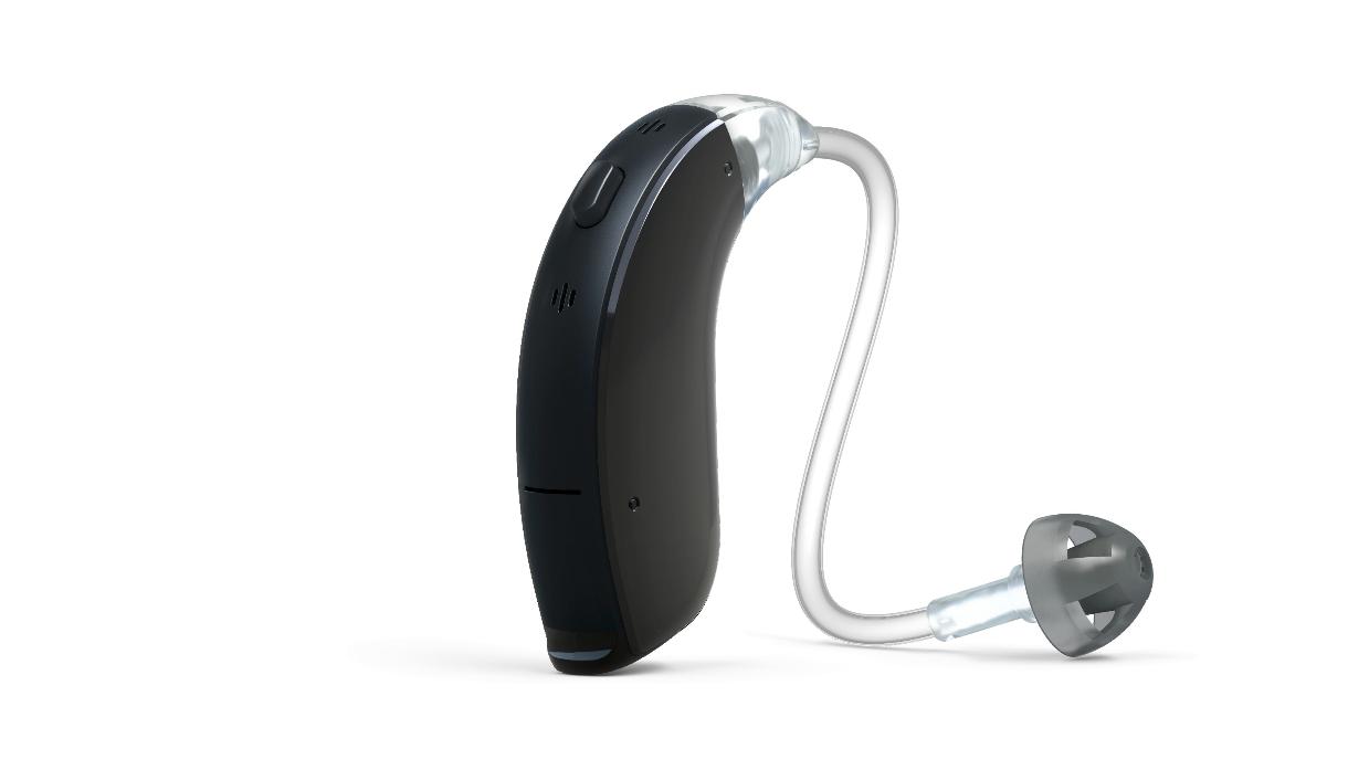ReSound: Schwarzes Hörgerät mit Dünnschlauch