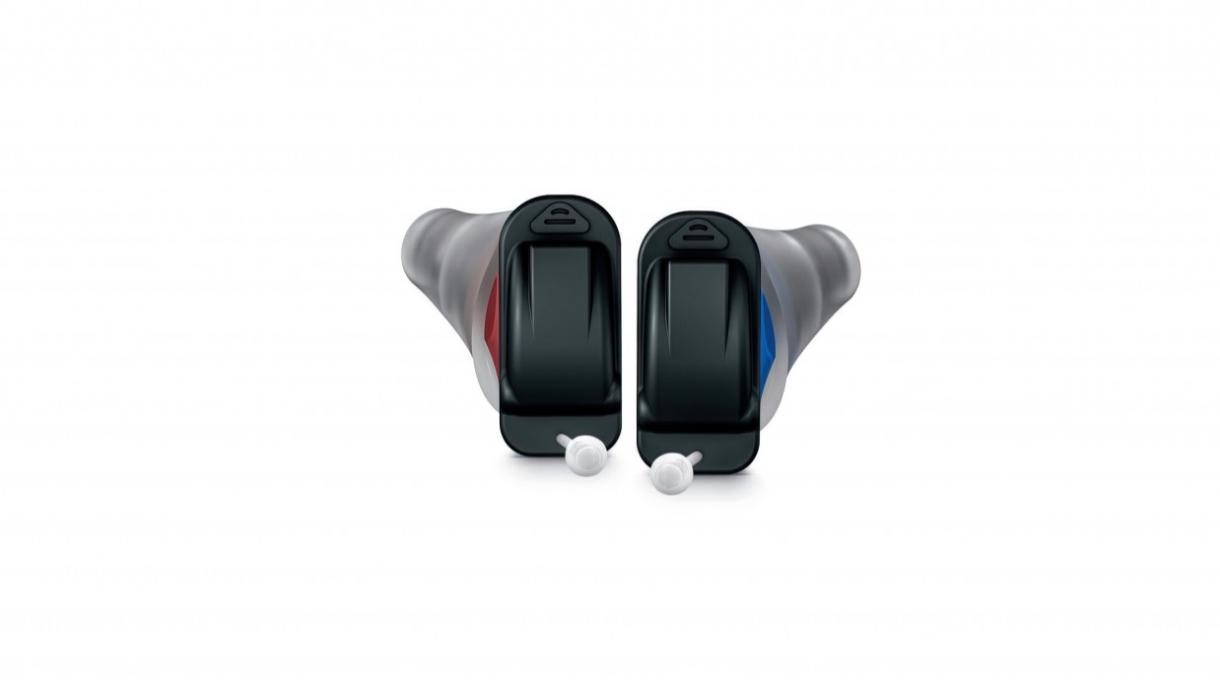 Signia: Ein Paar Standard-Im-Ohr-Hörgeräte mit Dome