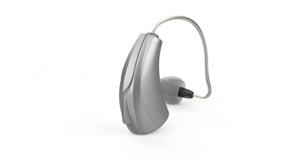 Starkey: Ein Hörgerät Starkey Livio AI mit mRIC-Hörer