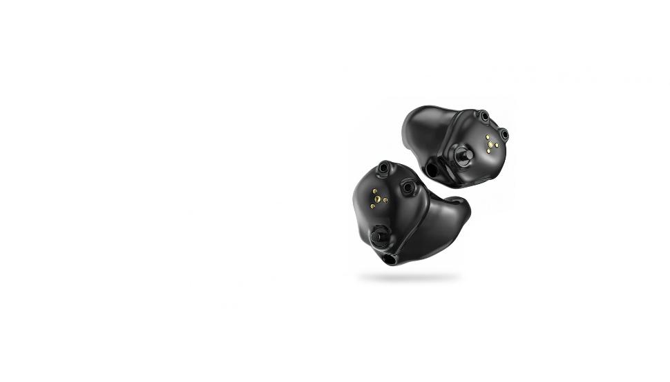 Starkey: Zwei akkubetriebene Im-Ohr-Hörgeräte Starkey Livio AI nebeneinander