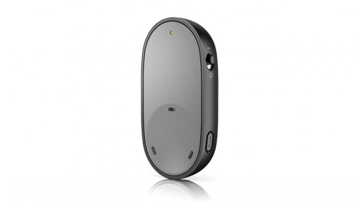 Unitron: Graues Bluetooth-Mikrofon für Unitron Hörgeräte