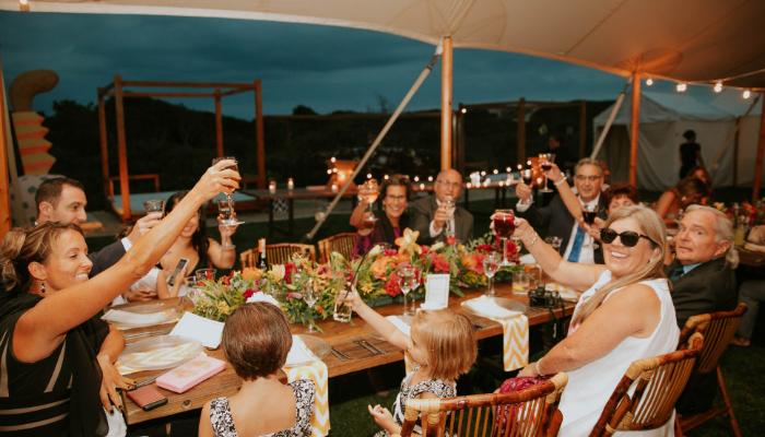 Unitron: Familienfeier im Freien