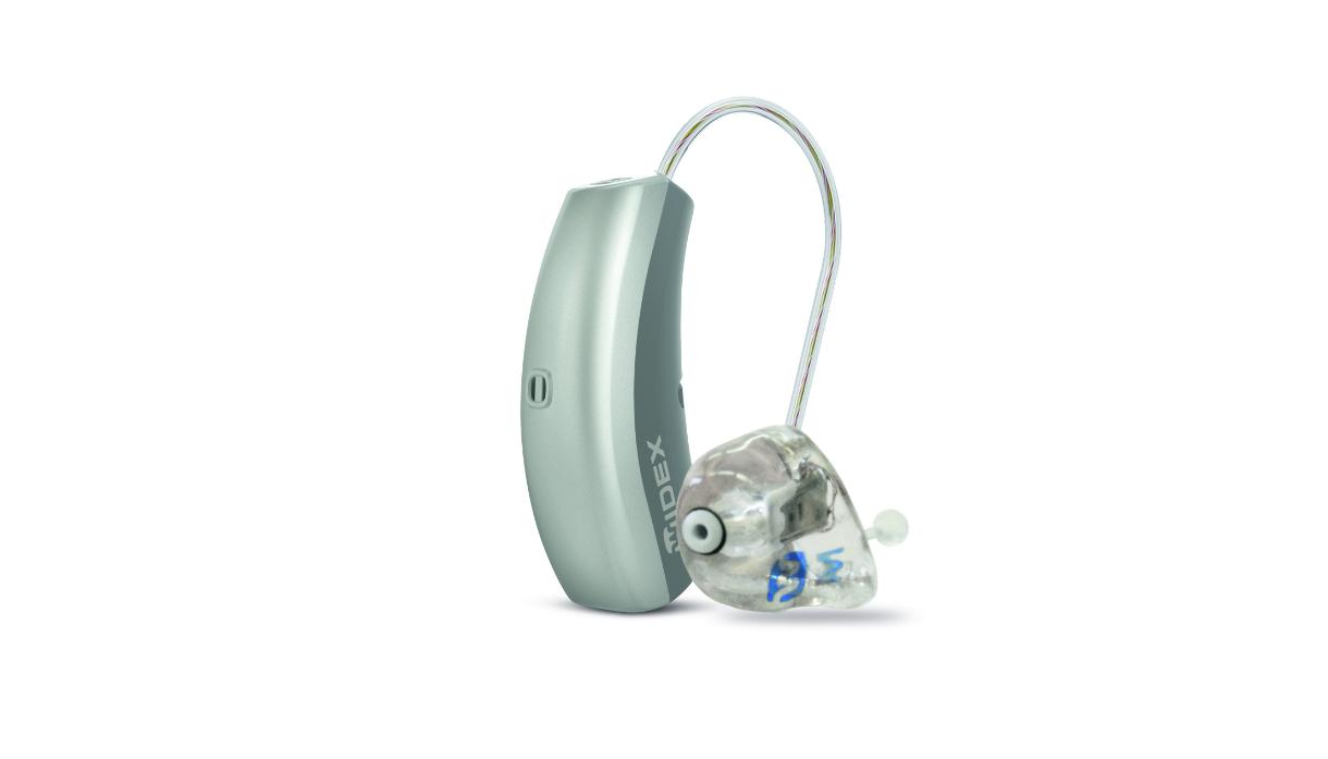 Widex: Hörgerät mit externem Lautsprecher und Otoplastik