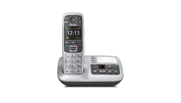 Widex: Schnurlos-Telefon steckt in Basisstation mit Anrufbeantworter