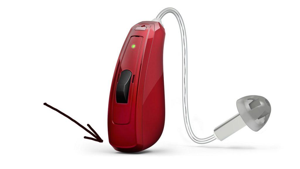 Ein Akku-Hörgerät mit einer Schutzart IP 68 hat keine Batterieklappe