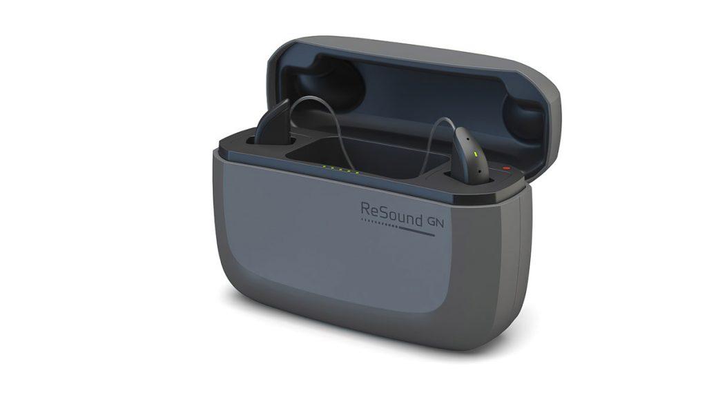 ReSound One Hörgeräte in der Ladestation (Etui)