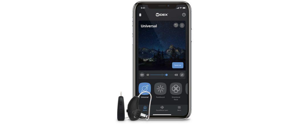 Widex App zur Steuerung von Moment Hörgeräten