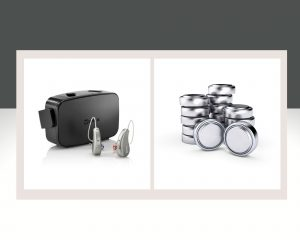 Akku-Hörgeräte und Hörgeräte mit Batterien