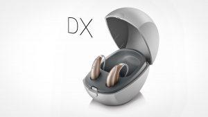 Unitron dx Hörgeräte im Ladegerät