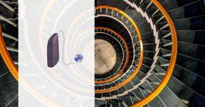 Eine Treppe symbolisiert den Eingewöhnungsmanager für Hörgeräte